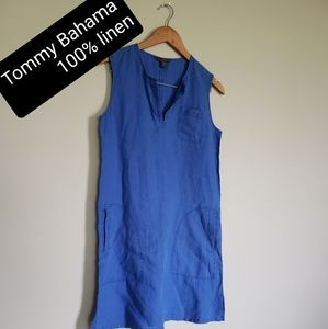 Tommy Bahama linen sleeveless midi dress medium